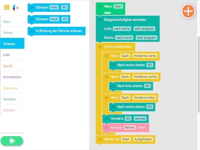 Blockly Programmiersprache