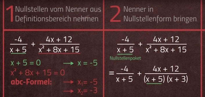 Simple Math Video: Nullstellen Bruchrechnen